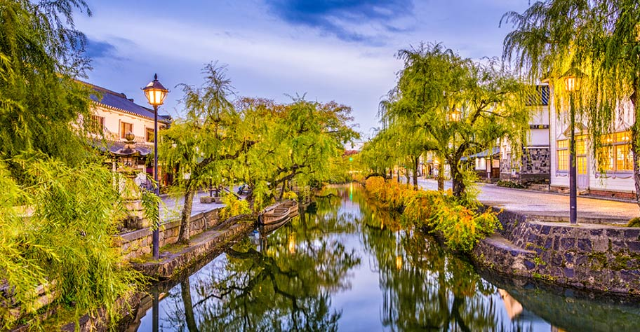 Stadt Kurashiki  in Japan Kultur Hochburg