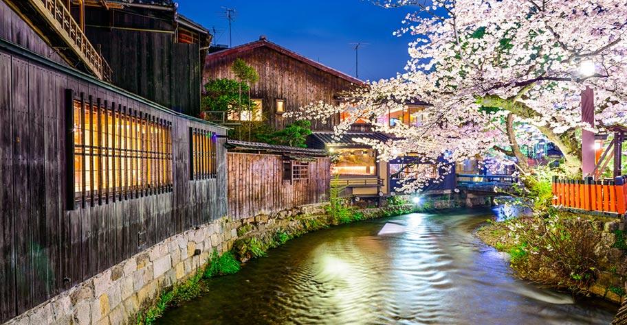 Kyoto schöne Stadt in Japan