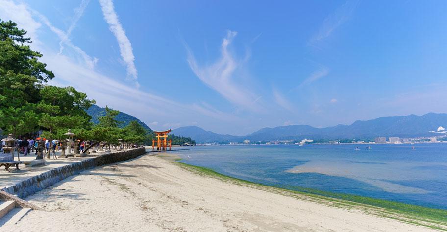 Miyajima Insel des Schreins in Japan